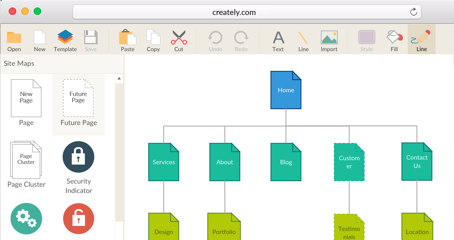 Website Sitemap Software and Sitemap Templates | Creately
